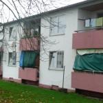 Wohnblock in der Landesaufnahmestelle Lebach